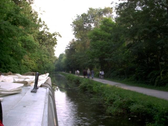 St. Helena III Cruising Down Canal