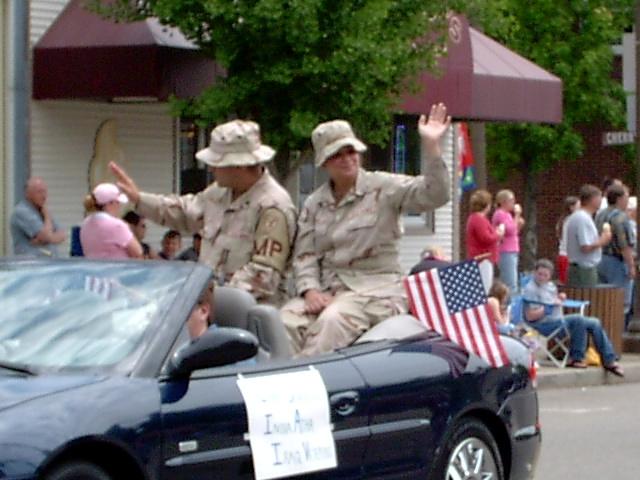 War Veterans Waving Back