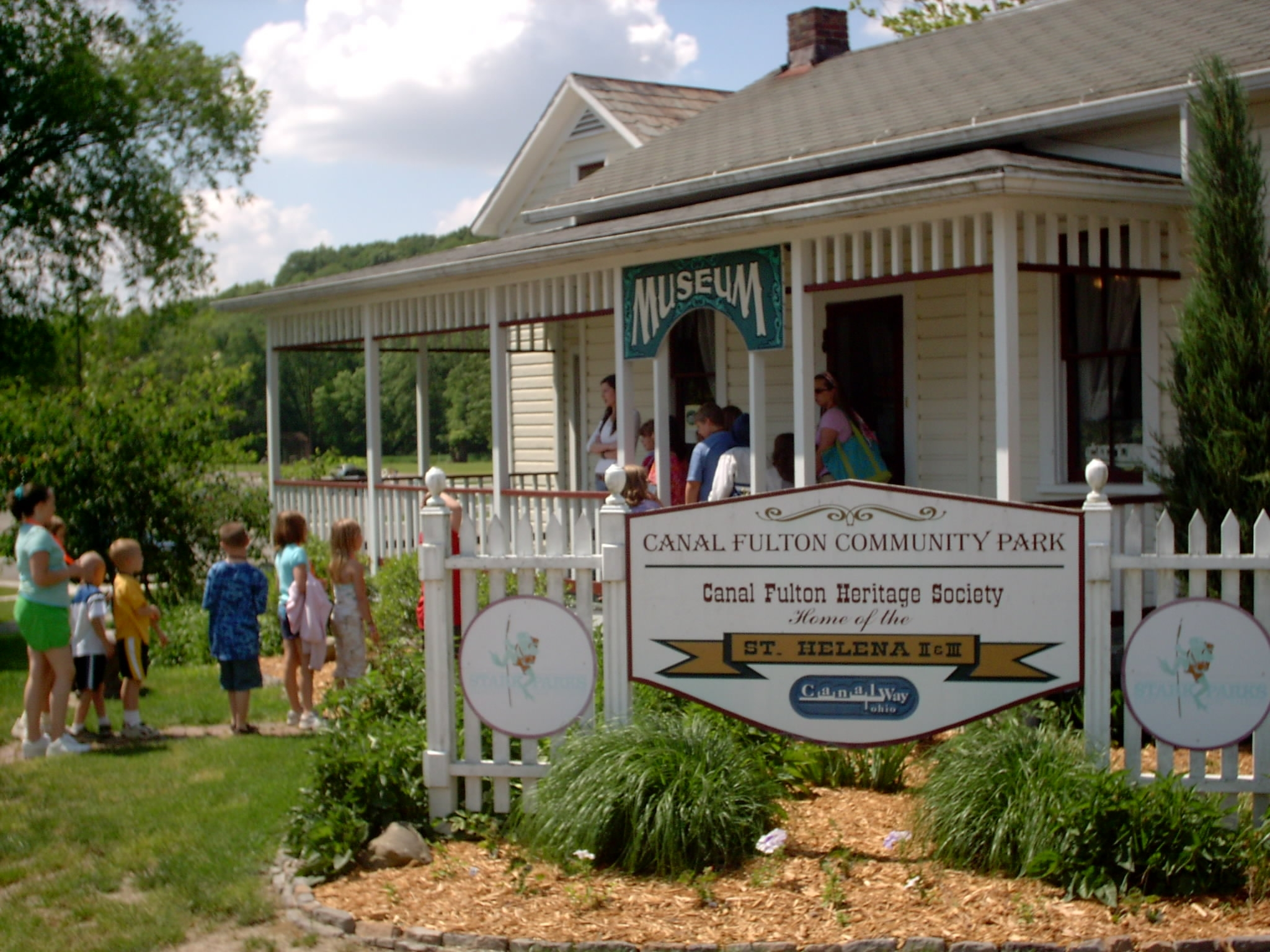 Students visit the Old Canal Days Museum. Once known as the