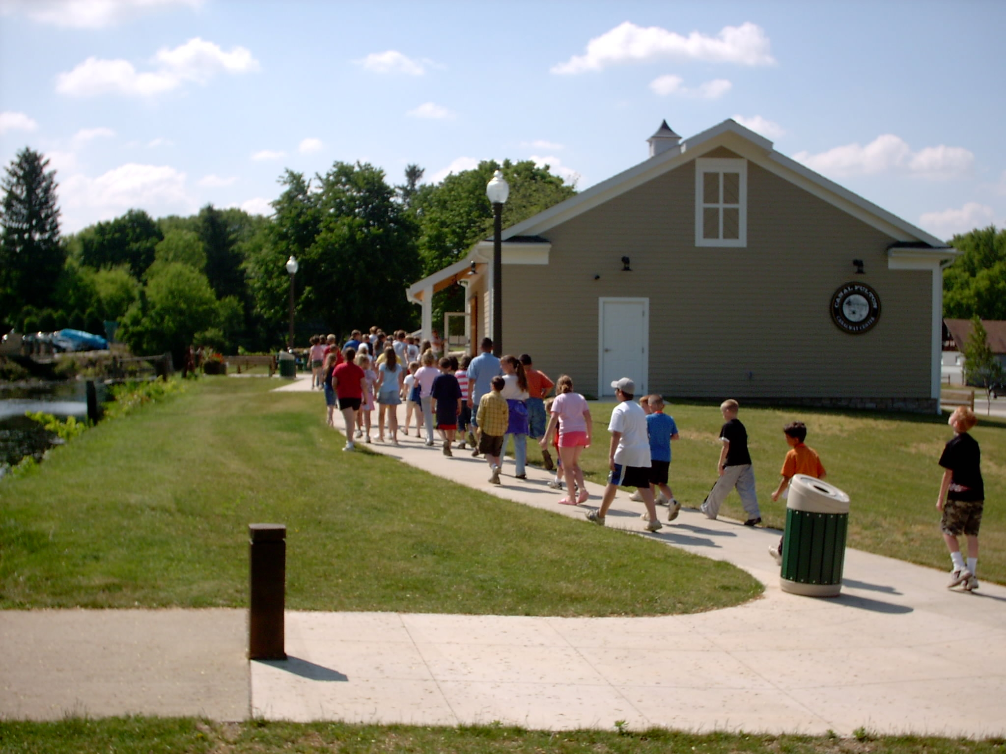 After their tour of the Old Canal Days Museum and the St. Helena II, students return to the Canalway Center for a 27 minute documentary video that tells more about the life and history of the Ohio & Erie Canal.