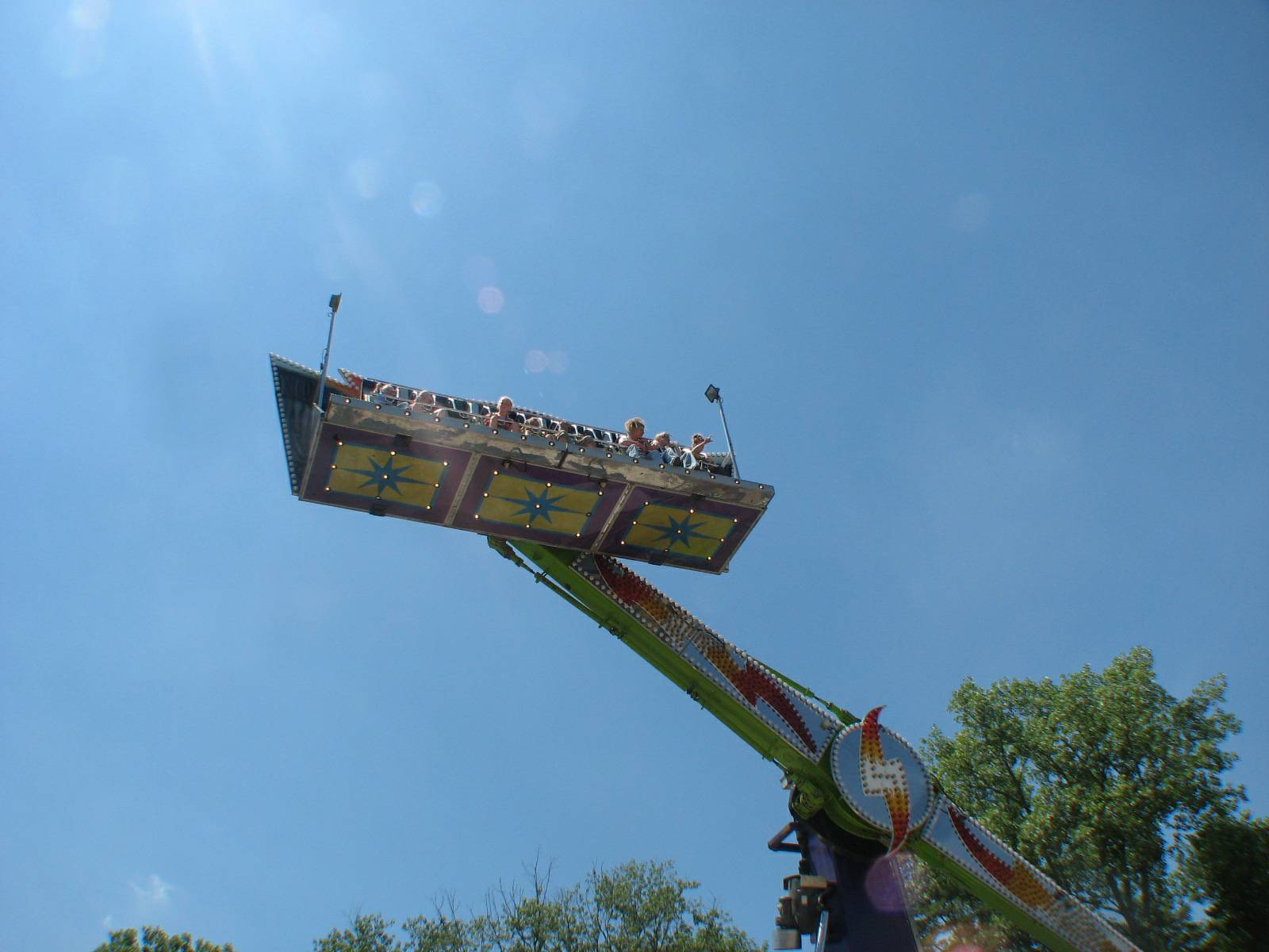 Getting a high view of the festival.